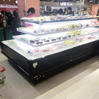 Commercial upright chiller multideck display open refrigerator