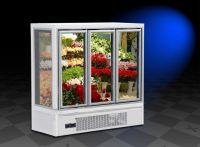 OEM commercial glass door flower display refrigerator