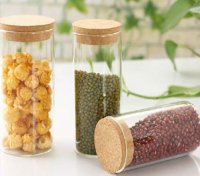 Small airtight glass bottles and jar for wholesale