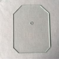 Plain grinding edge cutting tempered glass for wholesale