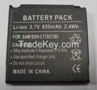 3.7V/650mAh Mobile Phone Battery
