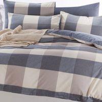 1.5m bedding set 4-piece with grid pattern