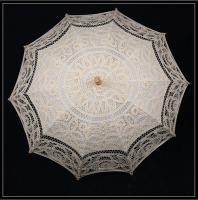 100% Hand Made Lace Sun Umbrella For Western Court Weddings White