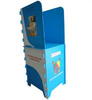 Corrugated plastic polling booth for 1 person