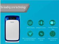 LED color screen PM2.5 home air purifier with ozone anion hepa dust sensor odor sensor
