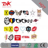 Promotional self adhesive embossed leather stickers for leather case