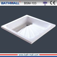 Deep acrylic shower basin for shower bathing