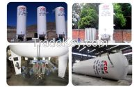 10M3 1.6Mpa cryogenic liquid O2 Ar N2 storage tank