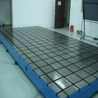 T-slotted cast iron/steel floor plates
