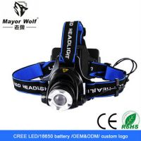 Wholesale High Power Crossbow Hunting Rechargeable 6000 Lumen Led Headlamp/Brightest 2*18650 Battery