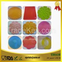 Heat resistant kitchen utensil silicone hot pot holder/mat/pad/trivet/