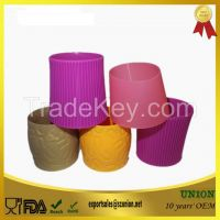 Heat Resistant Anti-slip Silicone Cup Sleeve for Mug Cups