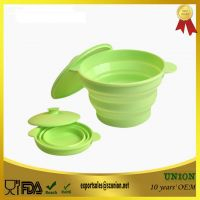 portable, microwave useable, collapsible, foldable silicone bowl