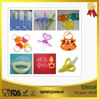 Customization BPA Free Food Grade silicone baby teether