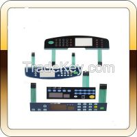 Shield/ flat/ embossed push button keypad membrane switch with LED/LCD
