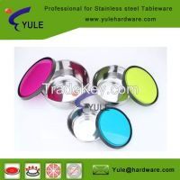 3pcs high quality stainless steel fresh bowl with lid