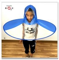 foldable pvc hat umbrella for kids
