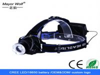 New Collection 2016 Cree High Power Rechargeable Led Headlamp Camping