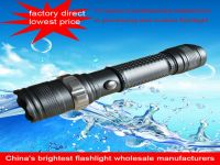 IP 65 led flashlight waterproof high quality rechargeable battery zoomable  torch light flashlight