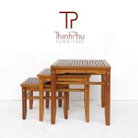 3pcs Side Table - Hight Quality Wood Side Table - For Indoor and Outdoor