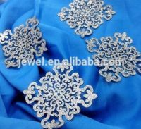 Embroidery iron on dokoh patch glitter silver butterfly 3d