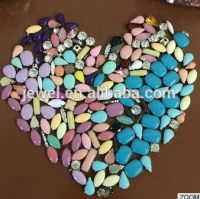 shawl chunky milky montee manik beads sew on stone with claw setting resin