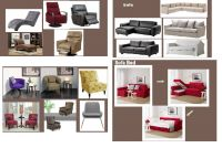 Chair, Sofa and Sofa bed