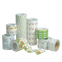 New style printed laminated foil roll film for seed pacakging
