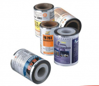 Food packaging plastic laminated roll film, bottle label shrink film in rolls
