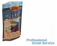 Customized printed pet resealed food bag packaging design