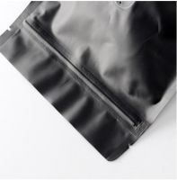 Stand up Black Matte Laminated Coffee Pouch with Zip Lock/Plastic Packing Bag with Ziplock