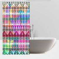 "Waterproof Polyester Fabric Custom Shower Curtains 66""(W) x 72""(H) (12 Holes) Printed Design bath curtain"