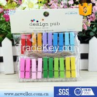 Crafts Colored Wooden Clothes Peg