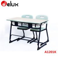 classroom desk and chairs for two people