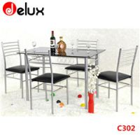 tempered glass dining table set
