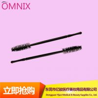Cheapest disposable mini nylon fiber plastic mascara wands applicaor false eyelash extension makeup tools one-off brushes 50pcs or 100pcs/bag
