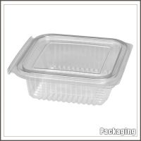Custom white and black clamshell blister fast food box