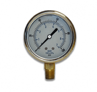 PA Series Dry, Stainless Brass Industrial Process Gauge