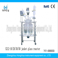 High quality Double-layer glass reaction kettle with low Price