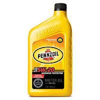 Pennzoil 5W-20 Motor Oil - 1 Quart Bottles - 12 Pack