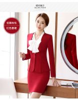 suit dress in red with smart living wrinkle