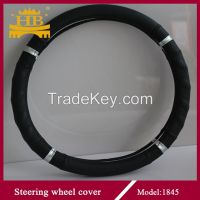 genuine leather steering wheel cover for car
