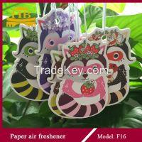 long-lasting scent hanging paper air freshener for car