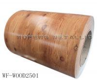 Design wood color ppgi , color coated wood ppgi coil manufacturer price