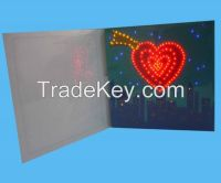 manufacture led light up business paper cards