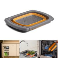 the over Sink Strainer Collapsible Silicone Colander
