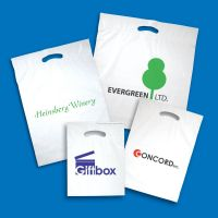 HDPE die cut Plastic Bag/ Printing Logo as requirements