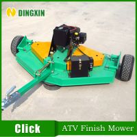 ATV Lawn finish mower with engine