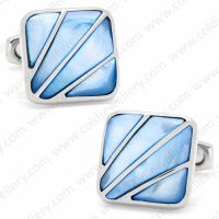 White mother of pearl mens cufflinks