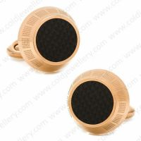Classical cufflinks rose-gold color